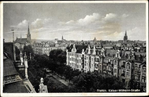 Ak Szczecin Stettin Pommern, Kaiser Wilhelm Straße