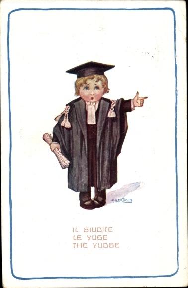 Künstler Ak Bertiglia, Aurelio, Il Guidice, le Juge, The Judge