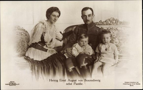 Ak Herzog Ernst August von Braunschweig, Prinzessin Victoria Luise von Preußen, Liersch 7740