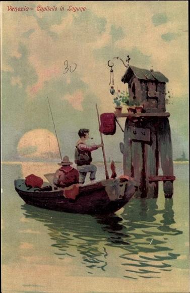 Künstler Litho Venezia Venedig Veneto, Capitello in Laguna