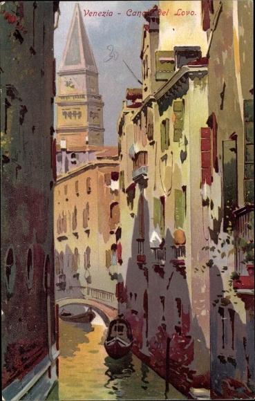 Künstler Litho Venezia Venedig Veneto, Canal del Lovo