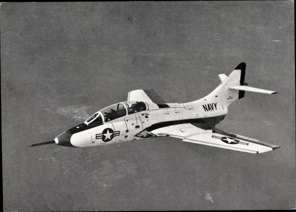 Ak US Navy Grumman G 93 F9F Cougar, Bord Jagdzweisitzer