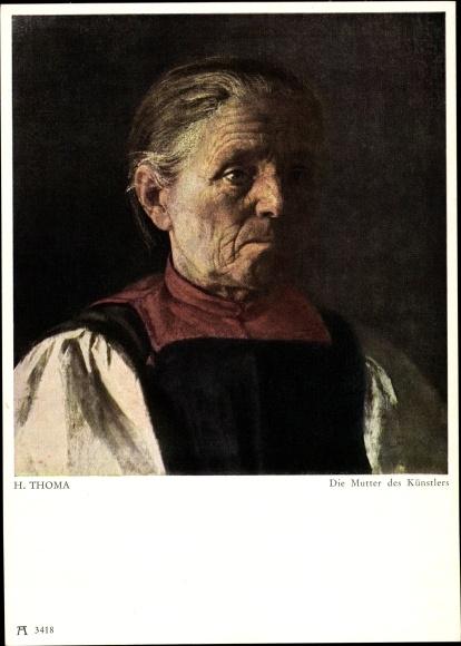 Künstler Ak Thoma, Hans, Die Mutter des Künstlers, Ackermann 3418