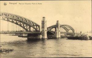 Ak Sankt Petersburg Russland, Pont de l'Empereur Pierre le Grand