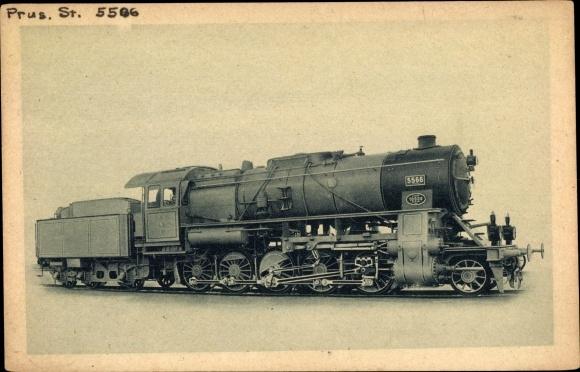 Ak Deutsche Eisenbahn, Dampflokomotive, Borsig, 1E Heißdampf Güterzug, 5566