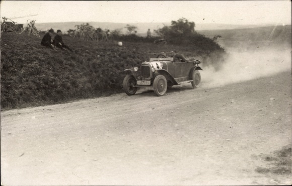 Foto Ak Auto, Rennwagen, Rennfahrer