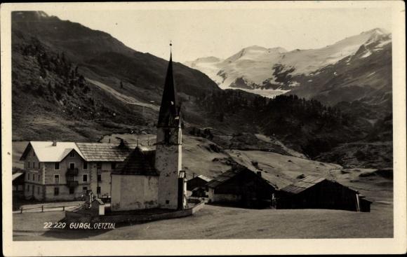 Ak Gurgl Tirol, Oetztal, Kapelle, Gebirgspartie