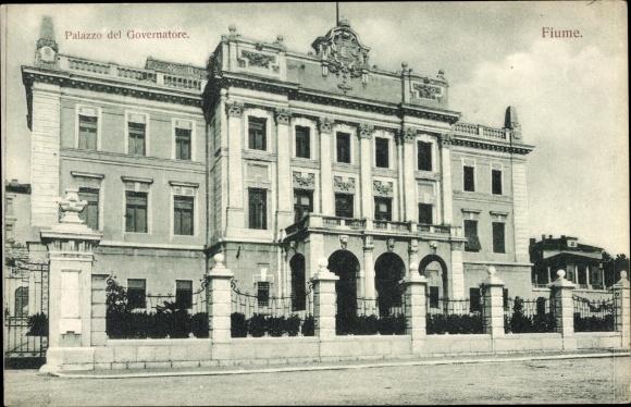 Ak Rijeka Fiume Kroatien, Palazzo del Governatore