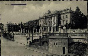 Ak Rijeka Fiume Kroatien, Palazzo della Prefettura