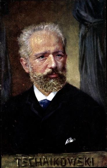 Künstler Ak Komponist Pjotr Iljitsch Tschaikowski, BKWI 874 23