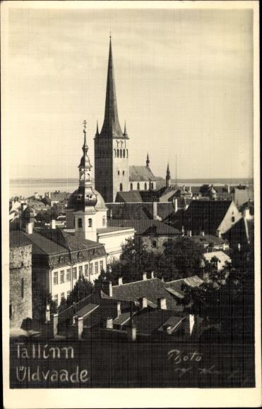 Foto Ak Tallinn Reval Estland, Stadt, Kirche
