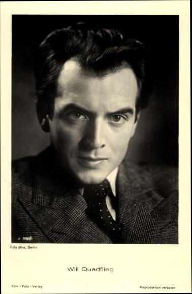 Ak Schauspieler Will Quadflieg, Portrait