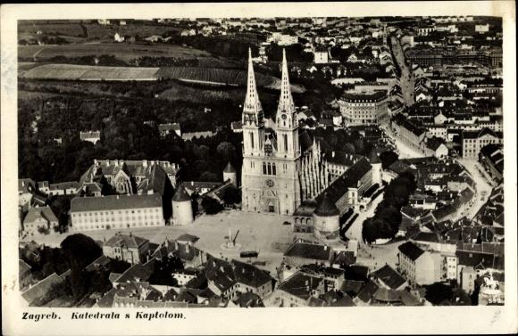 Ak Zagreb Kroatien, Katedrala s Kaptolom