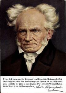 Künstler Ak Philosoph Arthur Schopenhauer, Allianz Versicherung