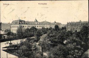 Ak Döbeln in Sachsen, Wettinplatz