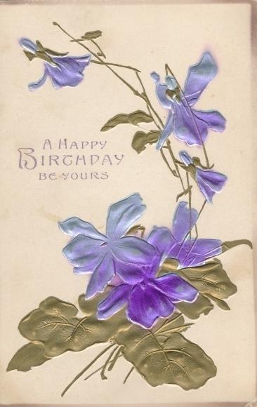 Präge Ak Glückwunsch Geburtstag, Blumen