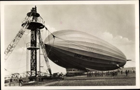 Ak LZ 127, Graf Zeppelin, Ankermast