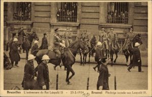 Ak Bruxelles Brüssel, L'avênement du Roi Léopold III., 23.2.1934