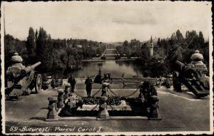 Foto Ak București Bukarest Rumänien, Parcul Carol I, Geschütze, Ehrenmal