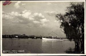Ak București Bukarest Rumänien, Parcul Carol II, Lacul Herastrau