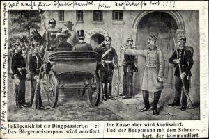 Ak Berlin Köpenick, Der Hauptmann von Köpenick, Bürgermeisterpaar, Rathauskeller