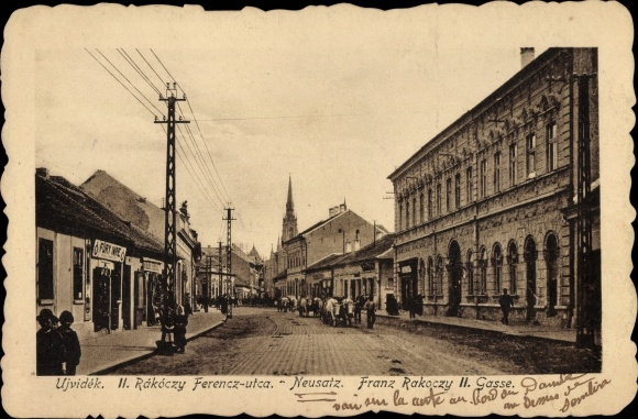 Ak Novi Sad Újvidék Neusatz Serbien, Franz Rakoczy II. Gasse