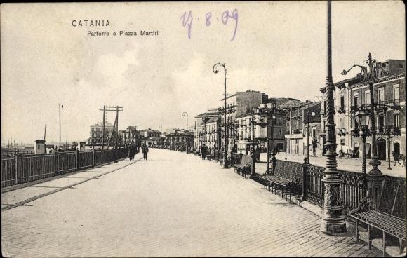 Ak Catania Sicilia, Parterre e Piazza Martiri