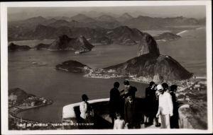 Foto Ak Rio de Janeiro Brasilien, Vista do Corcovado, Berge, Menschen