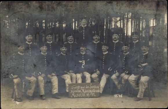 Foto Ak Deutsche Soldaten in Uniformen, Königsbrück, Reserve 1911