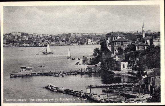 Ak Scutari Konstantinopel Istanbul Türkei, Vue panoramique du Bosphore