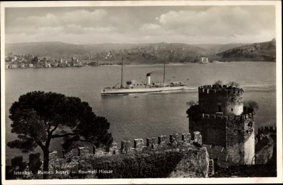 Ak Konstantinopel Istanbul Türkei, Rumeli hisari, Roumeli Hissar