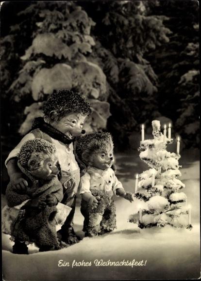 Ak Mecki der Igel, Frohe Weihnachten, Weihnachtsbaum, Diehl Film