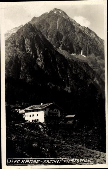 Ak Ranalt Neustift im Stubaital in Tirol, Gasthof Falbesoner