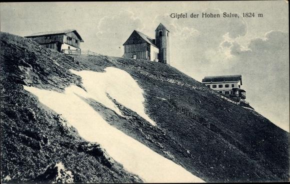 Ak Hopfgarten im Brixental in Tirol, Hohe Salve, Gipfel der Hohen Salve