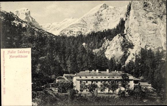 Ak Hall in Tirol, Haller Salzberg, Herrenhäuser