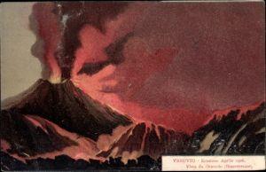 Künstler Ak Napoli Neapel Campania, Vesuvio, Eruzione, Aprile 1906, Vista da Oratorio