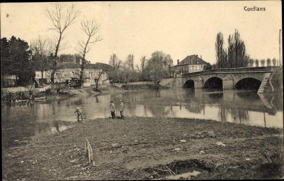 Ak Abbéville-lès-Conflans Lothringen Meurthe et Moselle, Pont