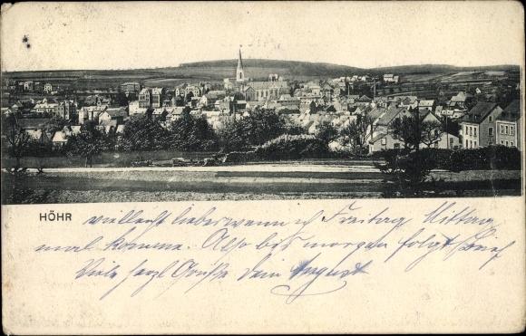 Ak Höhr Grenzhausen im Westerwaldkreis, Totalansicht
