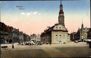 Ak Bolesławiec Bunzlau Schlesien, Rathaus
