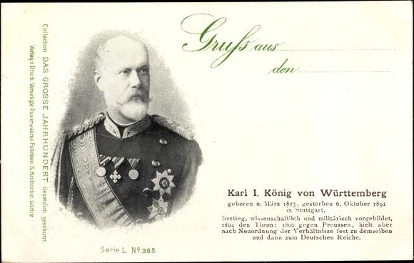 Ak Karl I. König von Württemberg