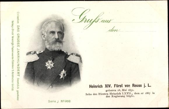 Ak Heinrich XIV. Fürst von Reuss jL