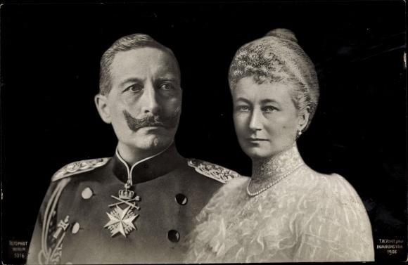 Ak Kaiser Wilhelm II. von Preußen, Kaiserin Auguste Viktoria, Portrait, RPH 5316