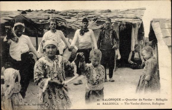 Ak Thessaloniki Griechenland, Quartier du Vardar, Flüchtlinge