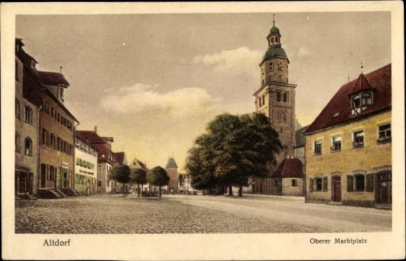 Ak Altdorf bei Nürnberg in Mittelfranken Bayern, Oberer Marktplatz