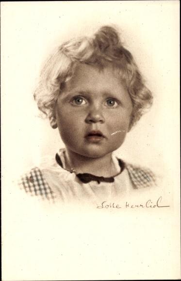Ak Kinderportrait, Kleines Mädchen, Foto Lotte Herrlich