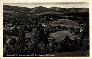 Ak Jagniątków Agnetendorf Hirschberg Riesengebirge Schlesien, Sturmhaube, Schneegruben