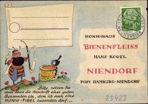 Ak Hamburg Eimsbüttel Niendorf, Honighaus Bienenfleiss, Hans Kogel, Honig, Biene