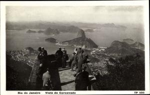 Ak Rio de Janeiro Brasilien, Vista do Corcovado, Zuckerhut