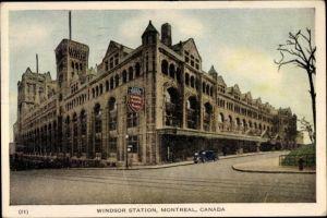 Ak Montreal Québec Kanada, Windsor Station, Bahnhof