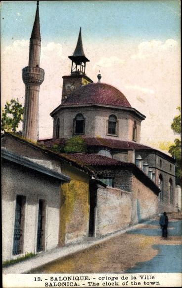 Ak Thessaloniki Griechenland, orloge de la Ville